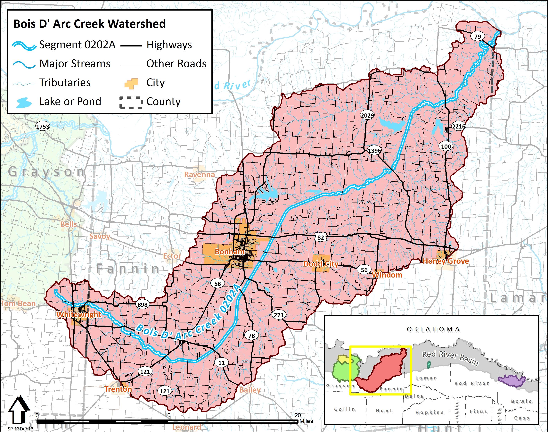 Tarleton State Map.Bois D Arc Creek Tarleton State University